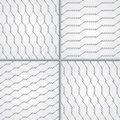 Various wire fence design set Stock Photos