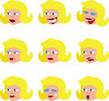 Various Woman\\\'s Facial Expressions Stock Image