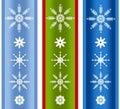 Various Xmas Snowflake Borders