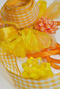 Various yellow ribbons Stock Photography