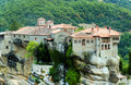 The Varlaam monastery on its rock pedestal Royalty Free Stock Photo