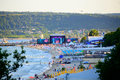 Varna beach MTV live concert scene Royalty Free Stock Photo