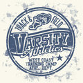 Varsity athletics grunge vector artwork for boy sportswear Stock Images