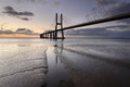 Vasco da Gama Bridge in Lisbon is an amazing spot Royalty Free Stock Photo