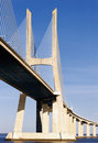 Vasco da Gama bridge in Lisbon, Portugal Royalty Free Stock Photos