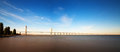 Vasco da gama bridge panorama beautiful panoramic image of the in lisbon portugal Stock Images