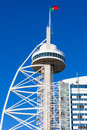 Vasco da Gama tower, Expo district, Lisbon, Portugal Stock Images