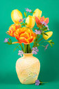 Vase with bouquet Stock Image