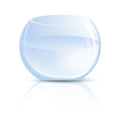 Vase en verre ou aquarium rond Photo stock