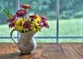 Vase of freshly cut flowers Royalty Free Stock Photo