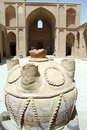 Vase in the inner yard of alexander s prison yazd iran Royalty Free Stock Photos