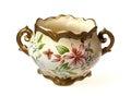 Vase isolated shot of a beautiful on white background Royalty Free Stock Photo