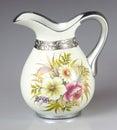 Vase isolated shot of a beautiful on white background Stock Photos