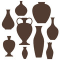 Vase set isolated objects on white background vector illustration eps Royalty Free Stock Photography