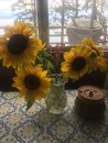 Vase Of Sunflowers Royalty Free Stock Photo