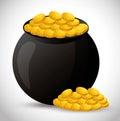 Vase of treasure icon