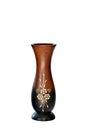 Vases wood on white background Royalty Free Stock Photos