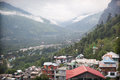 Vashist village view of and beas river kulu valley himachal pradesh india Stock Photography