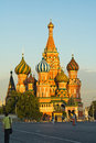 Vasily Blazhennogo's cathedral Stock Photos
