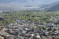 The vast green valleys with houses and trees leh city beautiful landscape Royalty Free Stock Photos