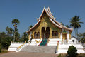 Vat ho pha bang one of the most famous buddhist temples of luang prabang laos Royalty Free Stock Images