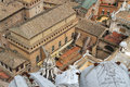 Vatican from the basilica cupola buildings and sixtine chapel seen s top Royalty Free Stock Photo