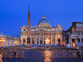 Vatican basilica rise religion roman catholicism capital in rome italy st peter s and square at sunrise facade and column Royalty Free Stock Photography