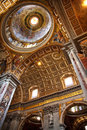 Vatican Ceiling Dome Rome Italy Royalty Free Stock Photo