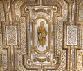 Vatican Ceiling Inside Saint Peter Rome Royalty Free Stock Photo
