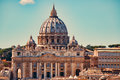 Vatican city. St Peter`s Basilica. Royalty Free Stock Photo