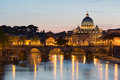 Vatican city during sunset rome Stock Photos