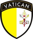 Vatican city vector patch flag Stock Photo