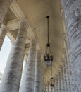 Vatican colonnade of bernini rome s surrounding st peter s square Stock Photo