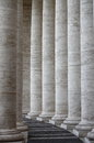 Vatican colonnade of st peter basilica in rome italy Stock Images