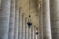 Vatican columns Royalty Free Stock Photo