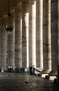 Vatican columns with a bird Royalty Free Stock Photo