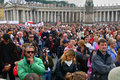 Vatican crowd religious people Stock Photo