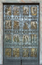 Vatican the holy door rome st peter s bronze gates thumbnail on them Royalty Free Stock Photography