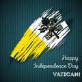 Vatican Independence Day Patriotic Design.