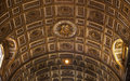 Vatican Inside Golden Ceiling Rome Italy Royalty Free Stock Photo