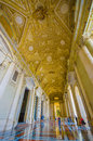 VATICAN, ITALY - JUNE 13, 2015: Spectacular outside hall on Saint Peter Basilica at Vatican, gold covered and marble Royalty Free Stock Photo