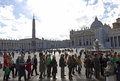 Vatican march people saint peter s square vatican city wait papal conclave pope election march vatican city vatican Royalty Free Stock Photography