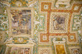 Vatican museum ceiling rome inside ornate map room details Stock Photos