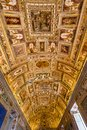Vatican Museum Map Room Ceiling Rome Italy Royalty Free Stock Photo