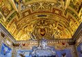 Vatican Museum Map Room Papal Symbol Ceiling Rome Italy Royalty Free Stock Photo