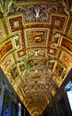 Vatican Museum Map Room Inside Ceiling Rome Italy Royalty Free Stock Photo