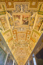 Vatican museum room in rome italy Stock Photo