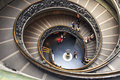 Vatican museum stairs in rome italy Stock Images