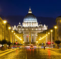 Royalty Free Stock Photography Vatican at Night