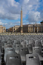Vatican Obelisk Crowd Chairs Cityscape Rome Italy Royalty Free Stock Photo